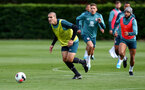 SOUTHAMPTON, ENGLAND - OCTOBER 03: Oriol Romeu(L) and Nathan Redmond during a Southampton FC training session at the Staplewood Campus on October 03, 2019 in Southampton, England. (Photo by Matt Watson/Southampton FC via Getty Images)