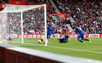 SOUTHAMPTON, ENGLAND - OCTOBER 06: Danny Ings(centre) of Southampton scores to make it 1-1 during the Premier League match between Southampton FC and Chelsea FC at St Mary's Stadium on October 06, 2019 in Southampton, United Kingdom. (Photo by Matt Watson/Southampton FC via Getty Images)