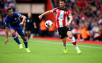 SOUTHAMPTON, ENGLAND - OCTOBER 06: Shane Long of Southampton during the Premier League match between Southampton FC and Chelsea FC at St Mary's Stadium on October 06, 2019 in Southampton, United Kingdom. (Photo by Matt Watson/Southampton FC via Getty Images)