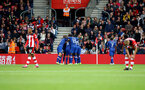 SOUTHAMPTON, ENGLAND - OCTOBER 06: Chelsea score during the Premier League match between Southampton FC and Chelsea FC at St Mary's Stadium on October 06, 2019 in Southampton, United Kingdom. (Photo by Matt Watson/Southampton FC via Getty Images)