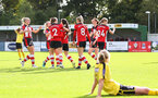 goal celebration during the Woman's FA Cup, first round between Southampton FC Women and Buckland Athletic, at the Testwood Community Stadium, AFC Totton, Southampton, 13th October 2019 (pic by Isabelle Field)