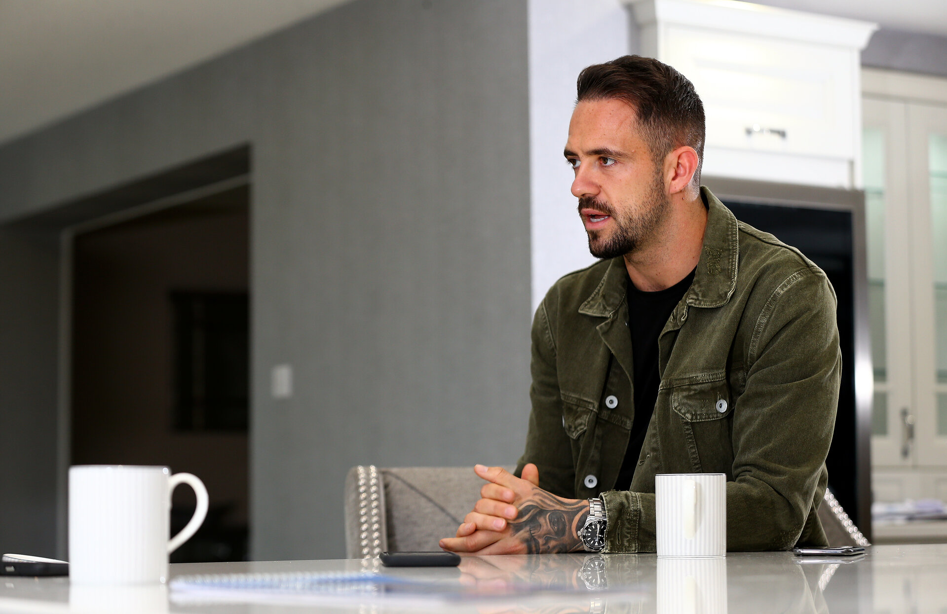 SOUTHAMPTON, ENGLAND - OCTOBER 17: Danny Ings of Southampton FC pictured at his home in Southampton, for the club's match day magazine, on October 17, 2019 in Southampton, England. (Photo by Matt Watson/Southampton FC via Getty Images)