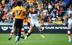 WOLVERHAMPTON, ENGLAND - OCTOBER 19: Jannik Vestergaard of Southampton during the Premier League match between Wolverhampton Wanderers and Southampton FC at Molineux on October 19, 2019 in Wolverhampton, United Kingdom. (Photo by Matt Watson/Southampton FC via Getty Images)
