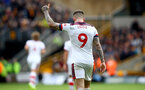WOLVERHAMPTON, ENGLAND - OCTOBER 19: Danny Ings of Southampton celebrates during the Premier League match between Wolverhampton Wanderers and Southampton FC at Molineux on October 19, 2019 in Wolverhampton, United Kingdom. (Photo by Matt Watson/Southampton FC via Getty Images)