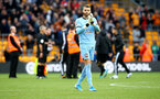 WOLVERHAMPTON, ENGLAND - OCTOBER 19: Angus Gunn of Southampton during the Premier League match between Wolverhampton Wanderers and Southampton FC at Molineux on October 19, 2019 in Wolverhampton, United Kingdom. (Photo by Matt Watson/Southampton FC via Getty Images)