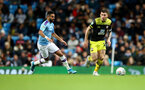 MANCHESTER, ENGLAND - OCTOBER 29:  Pierre-Emile Hojbjerg(R) of Southampton during the Carabao Cup Round of 16 match between Manchester City and Southampton FC at the Etihad Stadium on October 29, 2019 in Manchester, England. (Photo by Matt Watson/Southampton FC via Getty Images)