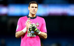 MANCHESTER, ENGLAND - OCTOBER 29: Alex McCarthy of Southampton during the Carabao Cup Round of 16 match between Manchester City and Southampton FC at the Etihad Stadium on October 29, 2019 in Manchester, England. (Photo by Matt Watson/Southampton FC via Getty Images)
