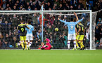 MANCHESTER, ENGLAND - NOVEMBER 02: Sergio Aguero of Manchester City scores during the Premier League match between Manchester City and Southampton FC at Etihad Stadium on November 02, 2019 in Manchester, United Kingdom. (Photo by Matt Watson/Southampton FC via Getty Images)