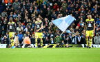 MANCHESTER, ENGLAND - NOVEMBER 02: Southampton players dejected during the Premier League match between Manchester City and Southampton FC at Etihad Stadium on November 02, 2019 in Manchester, United Kingdom. (Photo by Matt Watson/Southampton FC via Getty Images)