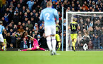 MANCHESTER, ENGLAND - NOVEMBER 02: Alex McCarthy of Southampton saves during the Premier League match between Manchester City and Southampton FC at Etihad Stadium on November 02, 2019 in Manchester, United Kingdom. (Photo by Matt Watson/Southampton FC via Getty Images)
