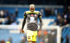 MANCHESTER, ENGLAND - NOVEMBER 02: Moussa Djenepo of Southampton during the Premier League match between Manchester City and Southampton FC at Etihad Stadium on November 02, 2019 in Manchester, United Kingdom. (Photo by Matt Watson/Southampton FC via Getty Images)