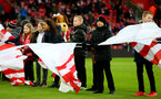 SOUTHAMPTON, ENGLAND - NOVEMBER 09: Flag bearers during the Premier League match between Southampton FC and Everton FC at St Mary's Stadium on November 09, 2019 in Southampton, United Kingdom. (Photo by Matt Watson/Southampton FC via Getty Images)