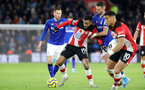 SOUTHAMPTON, ENGLAND - NOVEMBER 09: Sofiane Boufal during the Premier League match between Southampton FC and Leicester City at St Mary's Stadium on November 09, 2019 in Southampton, United Kingdom. (Photo by Chris Moorhouse/Southampton FC via Getty Images)
