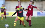 Pheobe Williams during the Woman's FA Cup between Southampton FC Women and Chesham United at the Chesham United Football Club, Buckinghamshire, 10th November 2019 (pic by Isabelle Field)