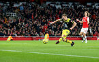 LONDON, ENGLAND - NOVEMBER 23: James Ward-Prowse of Southampton scores to make it 2-1 during the Premier League match between Arsenal FC and Southampton FC at Emirates Stadium on November 23, 2019 in London, United Kingdom. (Photo by Matt Watson/Southampton FC via Getty Images)