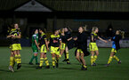 YEOVIL, ENGLAND - November 24: FT celebration during the SRWFL at The Avenue between Yeovil and Southampton Women on November 24 2019, Yeovil, England. (Photo by Isabelle Field/Southampton FC via Getty Images)