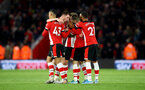 SOUTHAMPTON, ENGLAND - NOVEMBER 30: Southampton players celebrate during the Premier League match between Southampton FC and Watford FC at St Mary's Stadium on November 30, 2019 in Southampton, United Kingdom. (Photo by Matt Watson/Southampton FC via Getty Images)