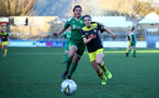 YEOVIL, ENGLAND - DECEMBER 01: Georgie Freeland during the FA Cup, second round, at The Avenue between Yeovil and Southampton Women on December 01 2019, Yeovil, England. (Photo by Isabelle Field/Southampton FC via Getty Images)