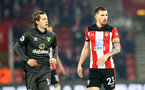 SOUTHAMPTON, ENGLAND - DECEMBER 04: Pierre-Emile Hojbjerg(R) of Southampton during the Premier League match between Southampton FC and Norwich City at St Mary's Stadium on December 04, 2019 in Southampton, United Kingdom. (Photo by Matt Watson/Southampton FC via Getty Images)