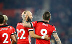 SOUTHAMPTON, ENGLAND - DECEMBER 04: Nathan Redmond(L) and Danny Ings during the Premier League match between Southampton FC and Norwich City at St Mary's Stadium on December 04, 2019 in Southampton, United Kingdom. (Photo by Matt Watson/Southampton FC via Getty Images)