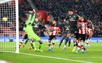 SOUTHAMPTON, ENGLAND - DECEMBER 04: Danny Ings of Southampton scores with his head to open the scoring, during the Premier League match between Southampton FC and Norwich City at St Mary's Stadium on December 04, 2019 in Southampton, United Kingdom. (Photo by Matt Watson/Southampton FC via Getty Images)