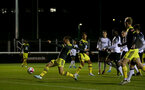 LOUGHBOUROUGH, ENGLAND - DECEMBER 10: Harry Hamblin shot on goal during Premier League International Cup match between Derby County and Southampton at Loughborough University Stadium on December 10 2019 in Loughborough, England (Photo by Isabelle Field/Southampton FC via Getty Images)