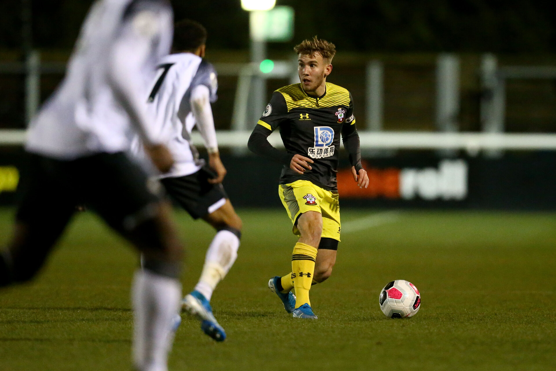 LOUGHBOUROUGH, ENGLAND - DECEMBER 10: Jake Vokins  during Premier League International Cup match between Derby County and Southampton at Loughborough University Stadium on December 10 2019 in Loughborough, England (Photo by Isabelle Field/Southampton FC via Getty Images)