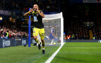 LONDON, ENGLAND - DECEMBER 26: Nathan Redmond of Southampton celebrates during the Premier League match between Chelsea FC and Southampton FC at Stamford Bridge on December 26, 2019 in London, United Kingdom. (Photo by Matt Watson/Getty Images)