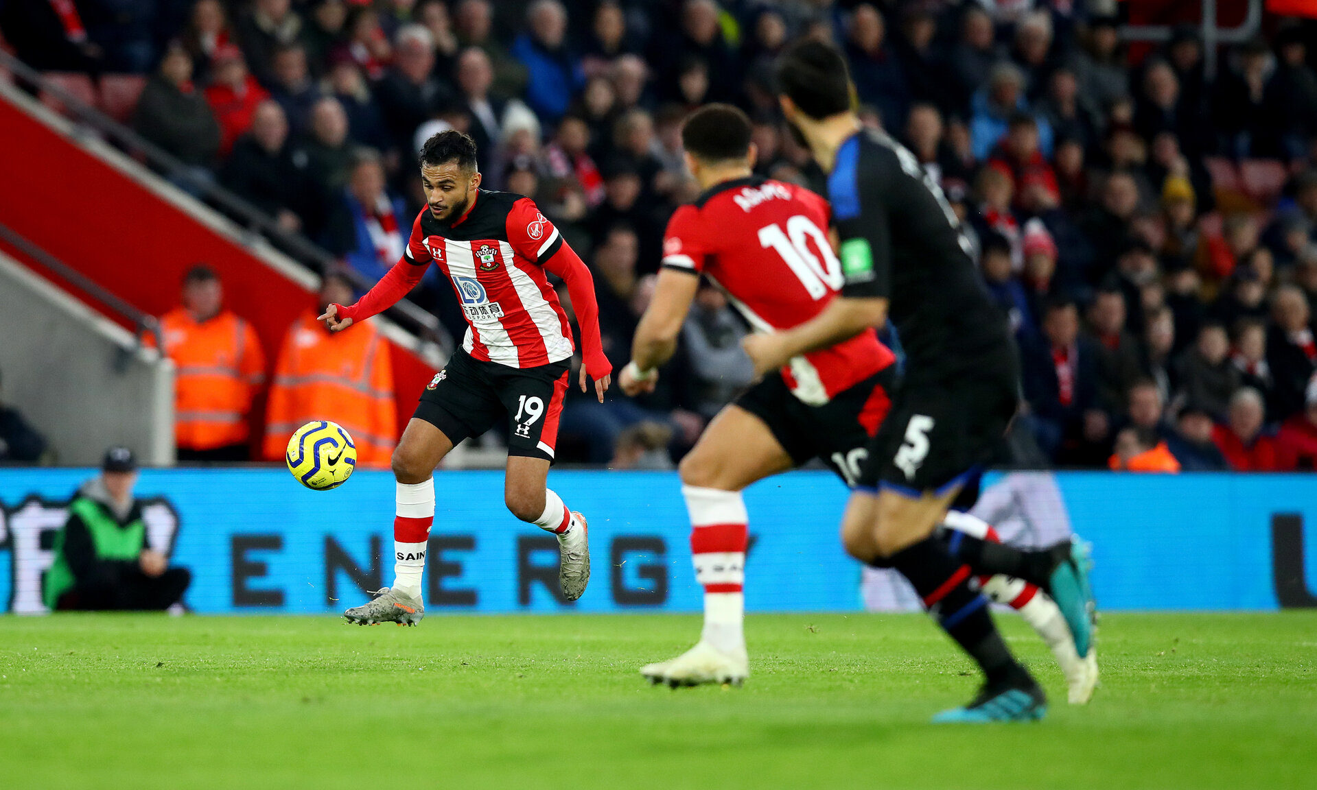SOUTHAMPTON, ENGLAND - DECEMBER 28: Sofiane Boufal of Southampton during the Premier League match between Southampton FC and Crystal Palace at St Mary's Stadium on December 28, 2019 in Southampton, United Kingdom. (Photo by Matt Watson/Southampton FC via Getty Images)