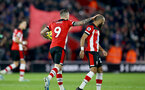 SOUTHAMPTON, ENGLAND - DECEMBER 28: Danny Ings and Nathan Redmond during the Premier League match between Southampton FC and Crystal Palace at St Mary's Stadium, on December 28, 2019 in Southampton, United Kingdom. (Photo by Isabelle Field/Getty Images)