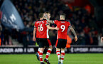 SOUTHAMPTON, ENGLAND - DECEMBER 28: James Ward-Prowse and Danny Ings during the Premier League match between Southampton FC and Crystal Palace at St Mary's Stadium, on December 28, 2019 in Southampton, United Kingdom. (Photo by Isabelle Field/Getty Images)