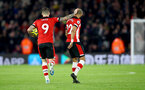 SOUTHAMPTON, ENGLAND - DECEMBER 28: Danny Ings(L) and Nathan Redmond of Southampton during the Premier League match between Southampton FC and Crystal Palace at St Mary's Stadium on December 28, 2019 in Southampton, United Kingdom. (Photo by Matt Watson/Southampton FC via Getty Images)