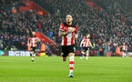 SOUTHAMPTON, ENGLAND - JANUARY 01: Danny Ings of Southampton celebrates during the Premier League match between Southampton FC and Tottenham Hotspur at St Mary's Stadium on January 01, 2020 in Southampton, United Kingdom. (Photo by Matt Watson/Southampton FC via Getty Images)