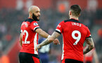 SOUTHAMPTON, ENGLAND - JANUARY 01: Nathan Redmond(L) and Danny Ings of Southampton during the Premier League match between Southampton FC and Tottenham Hotspur at St Mary's Stadium on January 01, 2020 in Southampton, United Kingdom. (Photo by Matt Watson/Southampton FC via Getty Images)