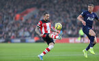SOUTHAMPTON, ENGLAND - JANUARY 01: Danny Ings during the Premier League match between Southampton FC and Tottenham Hotspur at St Mary's Stadium on January 1, 2020 in Southampton, United Kingdom. (Photo by Chris Moorhouse/Southampton FC via Getty Images)