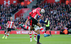 SOUTHAMPTON, ENGLAND - JANUARY 04: Kevin Danso during the FA Cup, Third Round, match between Southampton FC and Huddersfield Town at St Mary's Stadium on January 4, 2020 in Southampton, United Kingdom. (Photo by Chris Moorhouse/Southampton FC via Getty Images)