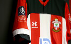 SOUTHAMPTON, ENGLAND - JANUARY 04: Inside the Southampton FC dressing room ahead of the FA Cup Third Round match between Southampton FC and Huddersfield Town at St. Mary's Stadium on January 04, 2020 in Southampton, England. (Photo by Matt Watson/Getty Images)