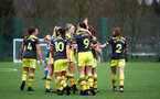 SOUTHAMPTON, ENGLAND - JANUARY 05: team celebration during Woman's FA Cup third round match between Cardiff City Ladies and Southampton Women's FC at CCB, Centre for Sporting Excellence Stadium on January 5, 2020 in Cardiff, United Kingdom. (Photo by Isabelle Field/Southampton FC via Getty Images)