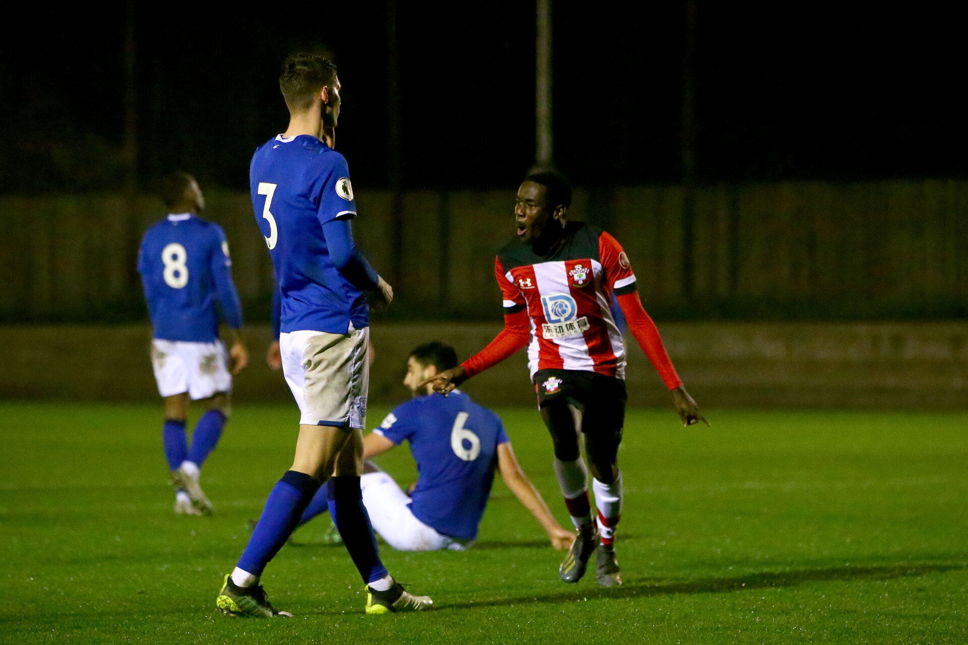 SOUTHAMPTON, ENGLAND - JANUARY 06: during the Premier League 2 match between Southampton U23 and Everton at Staplewood Training Ground on January 6, 2020 in Southampton, United Kingdom. (Photo by Isabelle Field/Southampton FC via Getty Images)