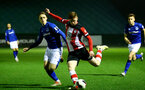 SOUTHAMPTON, ENGLAND - JANUARY 06: Kameron Ledwidge during the Premier League 2 match between Southampton U23 and Everton at Staplewood Training Ground on January 6, 2020 in Southampton, United Kingdom. (Photo by Isabelle Field/Southampton FC via Getty Images)