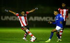 SOUTHAMPTON, ENGLAND - JANUARY 06: Dan N'Lundulu during the Premier League 2 match between Southampton U23 and Everton at Staplewood Training Ground on January 6, 2020 in Southampton, United Kingdom. (Photo by Isabelle Field/Southampton FC via Getty Images)