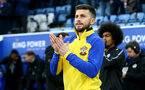LEICESTER, ENGLAND - JANUARY 11: Shane Long of Southampton during the Premier League match between Leicester City and Southampton FC at The King Power Stadium on January 11, 2020 in Leicester, United Kingdom. (Photo by Matt Watson/Southampton FC via Getty Images)