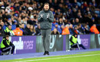 LEICESTER, ENGLAND - JANUARY 11: Ralph Hasenhuttl of Southampton during the Premier League match between Leicester City and Southampton FC at The King Power Stadium on January 11, 2020 in Leicester, United Kingdom. (Photo by Matt Watson/Southampton FC via Getty Images)