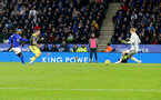 LEICESTER, ENGLAND - JANUARY 11: Danny Ings of Southampton scores to put his team 2-1 up during the Premier League match between Leicester City and Southampton FC at The King Power Stadium on January 11, 2020 in Leicester, United Kingdom. (Photo by Matt Watson/Southampton FC via Getty Images)