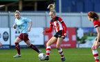 SOUTHAMPTON, ENGLAND - JANUARY 12: Phoebe Williams during the SRWFL at Snow's Stadium between Southampton Women and Chesham on January 12 2020, Totton, England. (Photo by Isabelle Field/Southampton FC via Getty Images)