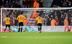 SOUTHAMPTON, ENGLAND - JANUARY 18: Alex McCarthy of Southampton is beaten by Raul Jimenez from the penalty spot during the Premier League match between Southampton FC and Wolverhampton Wanderers at St Mary's Stadium on January 18, 2020 in Southampton, United Kingdom. (Photo by Matt Watson/Southampton FC via Getty Images)