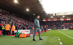 SOUTHAMPTON, ENGLAND - JANUARY 18: Ralph Hasenhüttl during the Premier League match between Southampton FC and Wolverhampton Wanderers at St Marys Stadium on January 18, 2020 in Southampton, United Kingdom. (Photo by Chris Moorhouse/Southampton FC via Getty Images)