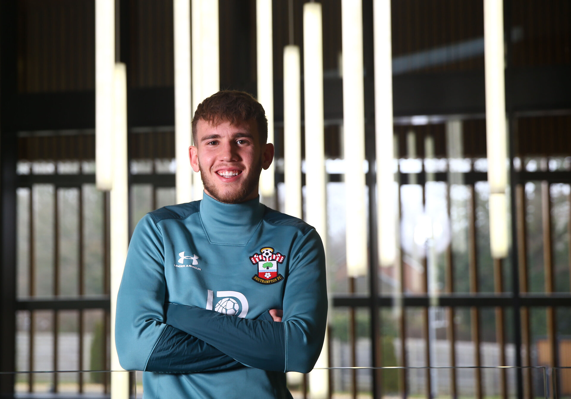 SOUTHAMPTON, ENGLAND - JANUARY 22: Jake Vokins of Southampton FC pictured for the Saints match day magazine at the Staplewood Campus on January 22, 2020 in Southampton, England. (Photo by Isabelle Field/Southampton FC via Getty Images)