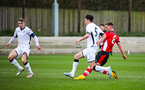 SOUTHAMPTON, ENGLAND - JANUARY 23: Jack Turner of Southampton FC scores his side's second goal during the Barclays Under 18 Premier League match between Southampton FC and Swansea City at the Staplewood Campus on January 23, 2020 in Southampton, England