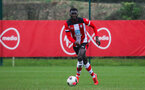 SOUTHAMPTON, ENGLAND - JANUARY 23: Pascal Kpohomouh of Southampton FC during the Barclays Under 18 Premier League match between Southampton FC and Swansea City at the Staplewood Campus on January 23, 2020 in Southampton, England